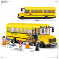 SLUBAN School bus 392 pcs learn & education DIY Toys Compatible with Legoe enlighten building blocks Bricks for child's toy 0506