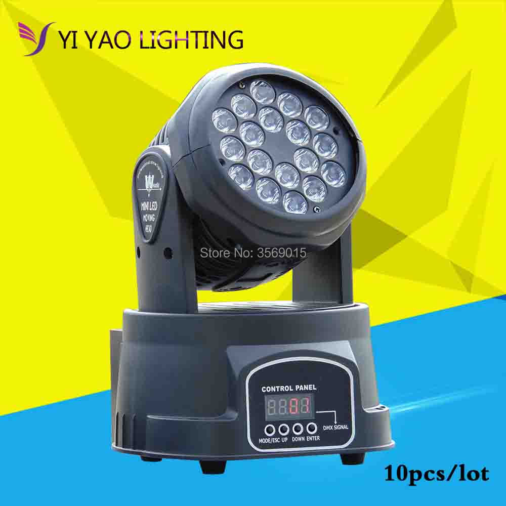 10pcs/lot 18X3W LED moving head light/LED wash DMX512 stage effect light/ dj lights10pcs/lot 18X3W LED moving head light/LED wash DMX512 stage effect light/ dj lights