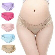 100% bawełna kobiety w ciąży w kształcie litery U niskiej talii macierzyństwo figi ciążowe majtki ciążowe kobiety ubrania