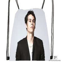 Custom Dylan O'brien@02-  Drawstring Backpack Bag Cute Daypack Kids Satchel (Black Back) 31x40cm#180611-01-26