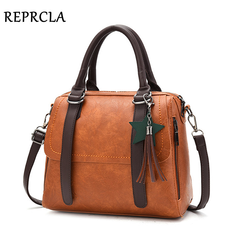 REPRCLA New Luxury Fashion Women Bag High Quality Handbags Tassel Shoulder Bag PU Leather Pillow Women Messenger Bags Crossbody