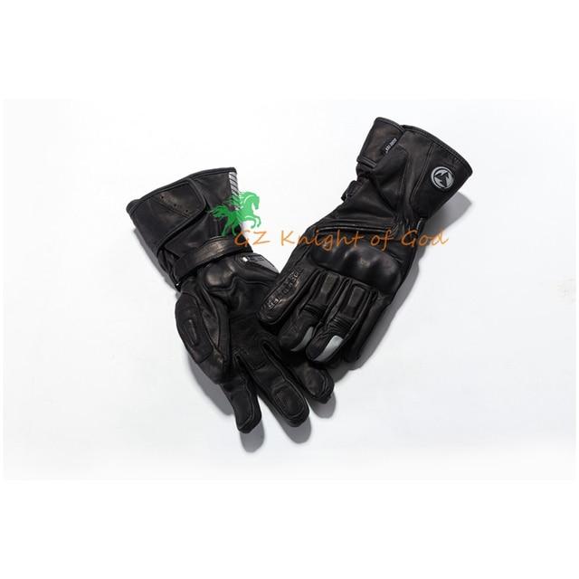 Зимние теплые мотоциклетные Водонепроницаемый Прихватки для мангала Moto Для мужчин GP PRO перчатки кожаные Мотокросс длинный Велоспорт Защитное Снаряжение гонки Полный пальцев