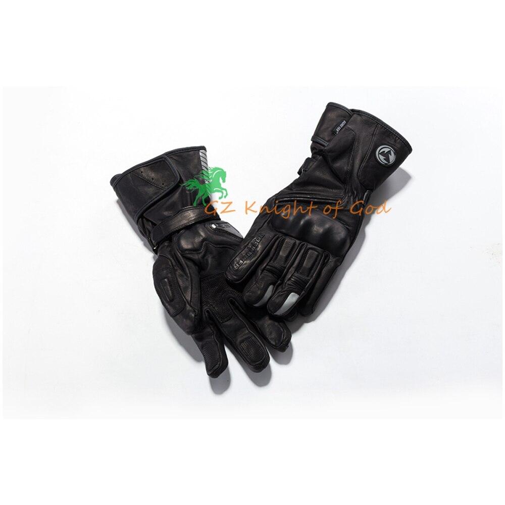 Hiver chaud Moto étanche gants Moto hommes GP PRO gant en cuir Motocross Long cyclisme équipement de protection course complet doigt