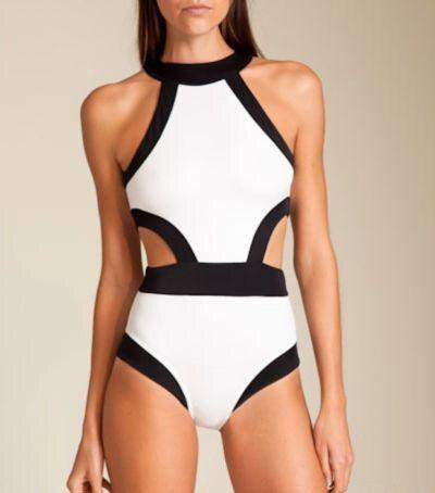 designer vivian di un pezzo sexy e economici costume da bagno beachwear donna carina patchwork solid