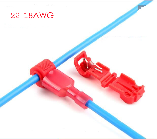 40pcs Blue T Tap Insulated Quick Splice Wire Terminal Spade Crimp ...