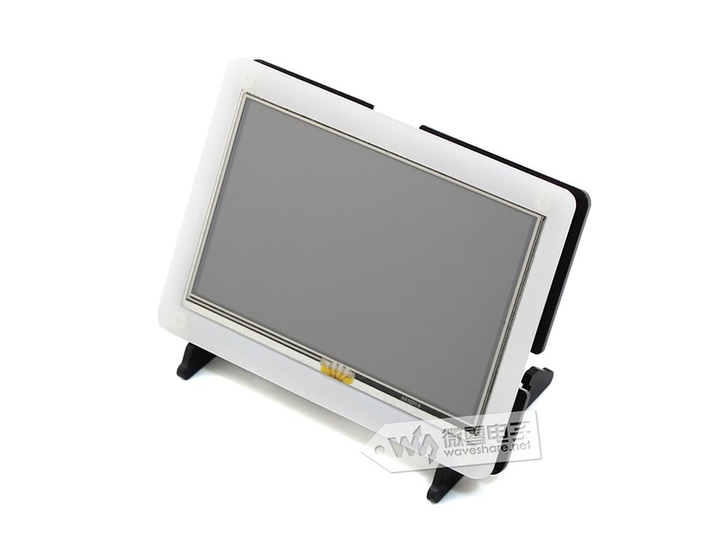 Prix pour 5 pouce Framboise Pi 3 écran LCD tactile écran HDMI affichage avec noir cas