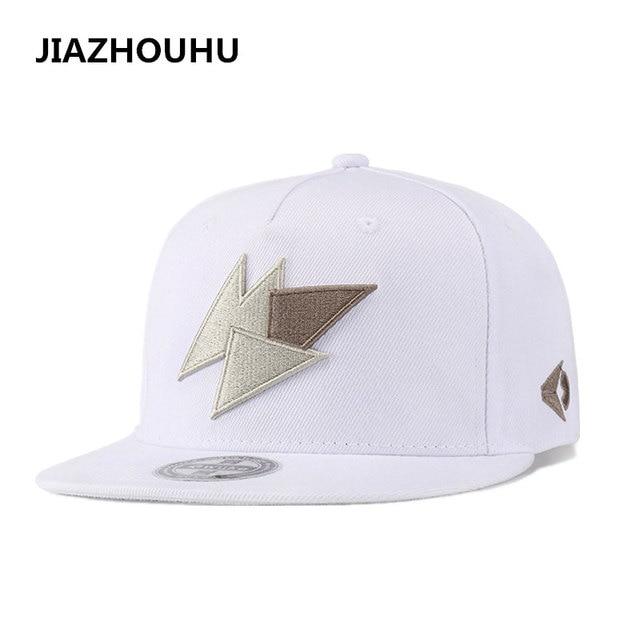 White Canvas Embroidered Men s Hats Brand Geometric Casual Women s Cap  Adult Cap Korean Baseball Cap Mens Trend Hip Hop Flat Hat cf03dd62dcc