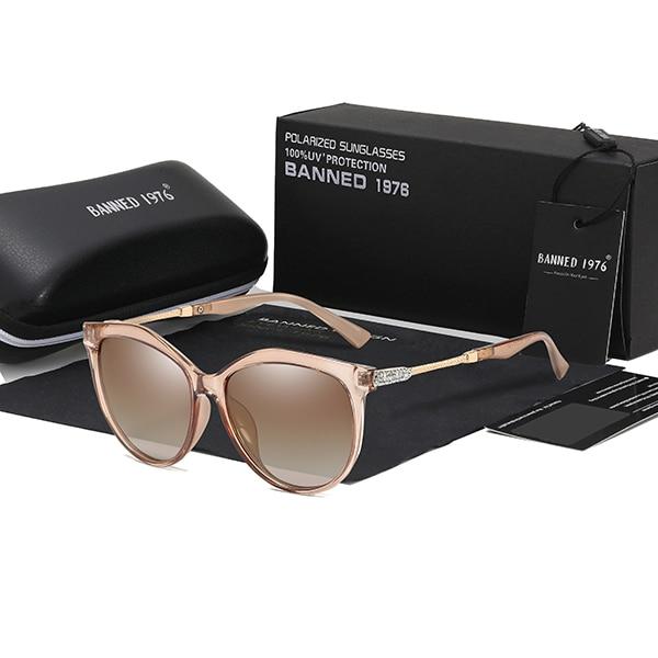 2019 New Luxury HD Polarized Women Sunglasses Fashion Round Ladies Vintage Brand Design cat eye woman Female Sun Glasses oculos 9