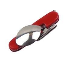 Stainless Steel Spoon+Fork+Knife+ Bottle Opener 4 in 1 Folding Cutlery Set Multifunctional Portable Outdoor Tableware Set
