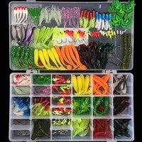 301 pcs Soft Lure Set Sea Fishing Tackle Fishing Lure Silicone Bait Soft Worm Shrimp Carp Fishing Accessories