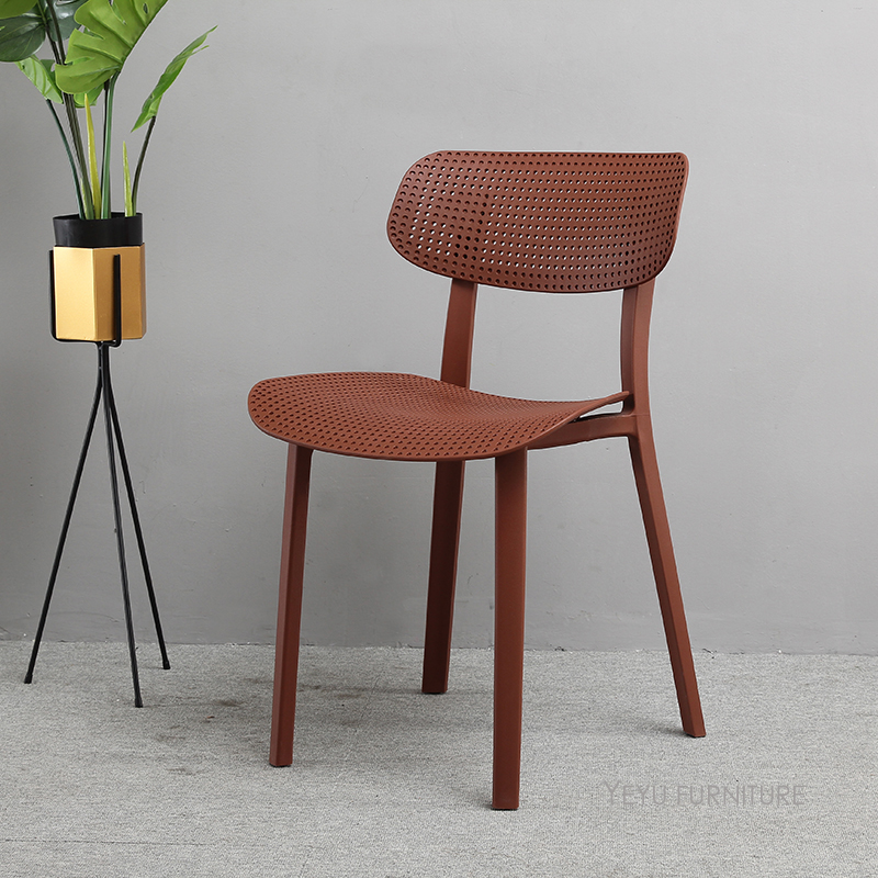 Minimalist Modern Design Plastic colorful fashion dining chair, loft style popular cafe chair, leisure chair, computer chair 1PC