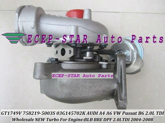GT1749V 758219 758219-5003S 03G145702K Turbo Turbocharger For AUDI A4 B7 A6 C6 For Volkswagen VW Passat B6 BRE BLB DPF BRF 2.0L radiator cooling fan relay control module for audi a6 c6 s6 4f0959501g 4f0959501c