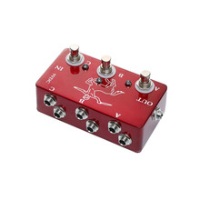 купить Portable Red Color Effects 3 Loop Switch Pedals Ture Bypass Looper Pedal For Electric Guitar Accessories по цене 1854.29 рублей