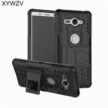 Na telefony komórkowe dla Coque Sony Xperia XZ2 kompaktowy futerał twarde silikonowe etui na telefon do Sony Xperia XZ 2 Compact skrzynki pokrywa dla Xperia XZ2 kompaktowa obudowa