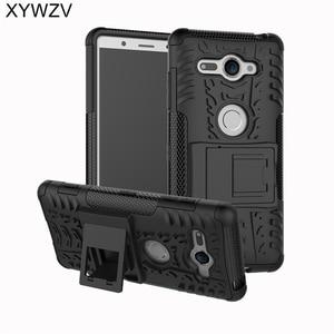 Image 1 - SFor Coque Sony Xperia XZ2 קומפקטי מקרה קשה סיליקון טלפון Case עבור Sony Xperia XZ 2 קומפקטי כיסוי עבור Xperia XZ2 קומפקטי מעטפת