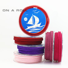 3 meters/piece 3MM Encryption woven Cord Mobile phone hang rope Bracelet and necklace rope manbo cord 19 color