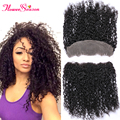 10A Best Lace Frontals With Baby Hair For Sale Brazilian Virgin Human Hair Ear To Ear Curly Lace Frontal Closure Hair Pieces
