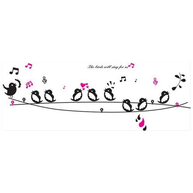 Auf die draht Vögel singen wandtattoos 3d vinyl aufkleber ...