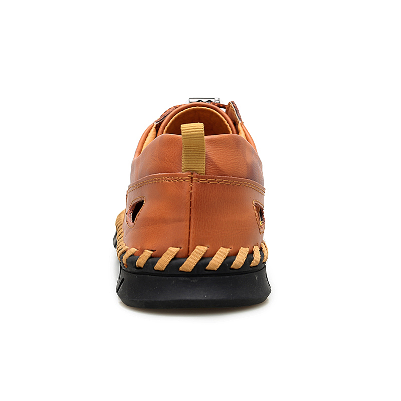 CLAX Mens Leather Sandals 2019 Summer Man 39 s Shoes Breathable Casual Shoe Male Walking Footwear Big Size in Men 39 s Sandals from Shoes