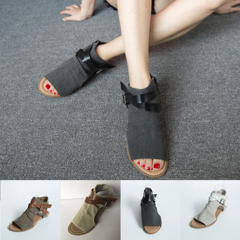 2018 New Women Sandals Gladiator Peep Toe Buckle Strap Zipper Design Women Flats Shoes Summer Beach Ladies Shoes постельное белье tango постельное белье page 1 5 спал page 2 page 1