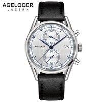 Швейцария Для мужчин Роскошный хронограф роли Reloj AGELOCER часы сапфир кварцевые наручные часы для Для мужчин s relogio masculino