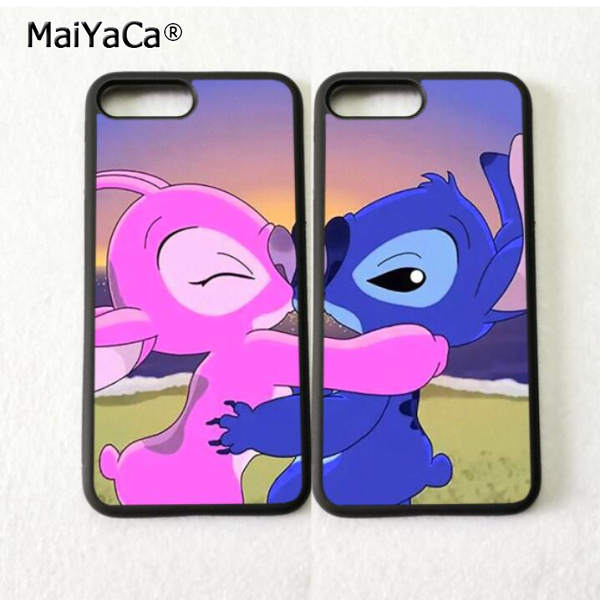 Dibujos Animados Stitch Y Angel Bff Mejores Amigos Amor Par Suave Tpu Fundas De Teléfono Para Iphone 5s Se 6 6 S 7 Plus 8 8 X Xr Xs