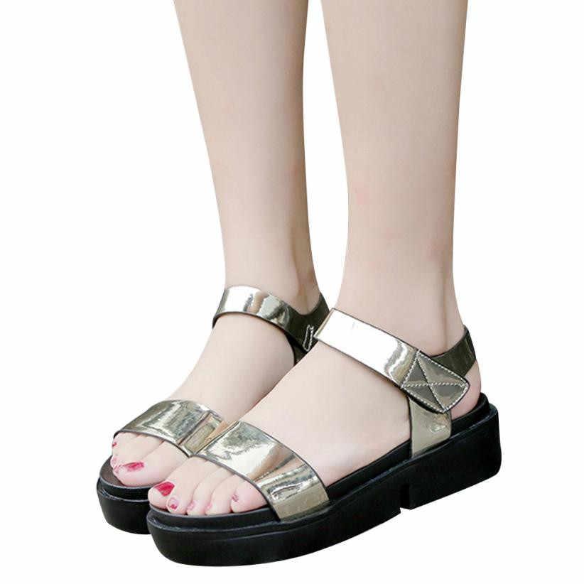 a03d29fffcc6 ... women sandals summer 2018 platform shoes woman sandals Women Platform  Casual Comfortable flats Sandals chaussures femme ...