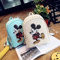 2016 Limited Kpop Mochilas Japanese Backpacks With Ears Women's Bag Korean Mouse Mickey Shoulder Small Backpack School Leather