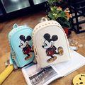 2016 Limited Mochilas Kpop Mochilas Japonés Con Oídos Bolsa de Corea del Hombro Mochila Pequeña Escuela Del Ratón de Mickey de Las Mujeres de Cuero