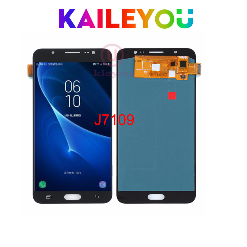 5pcs/lot Amoled For Samsung Galaxy j7109 J7108 LCD Display Touch Screen Panel with Digitizer Front Glass Assembly parts 5pcs/lot Amoled For Samsung Galaxy j7109 J7108 LCD Display Touch Screen Panel with Digitizer Front Glass Assembly parts
