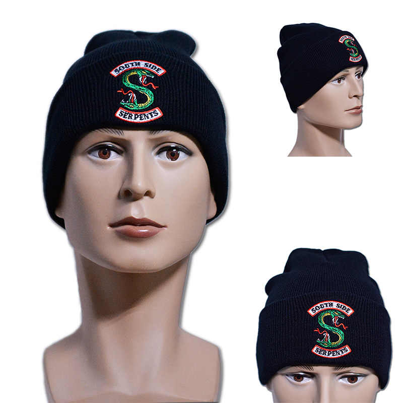 Riverdale Cosplay Beanie Cap Winter Knitted Embroidery Hat Women Men Adult Archie Betty Veronica