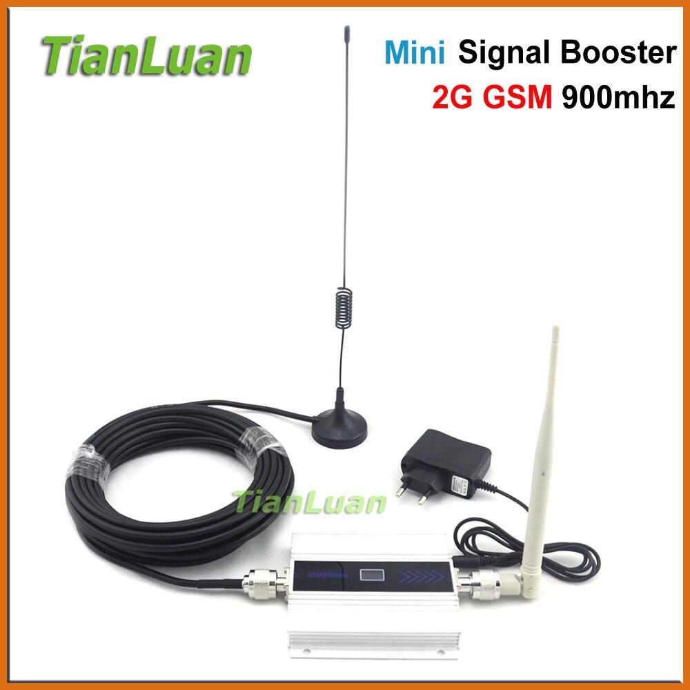 TianLuan GSM 900 MHz teléfono móvil Booster 2G repetidor teléfono celular amplificador con lechón/látigo /pantalla LCD