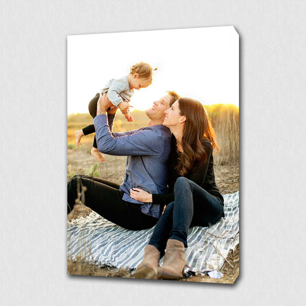 Custom Your Family Photo Memories Personalized Canvas Print On Canvas For Home Decoration Wall Art/ Gifts