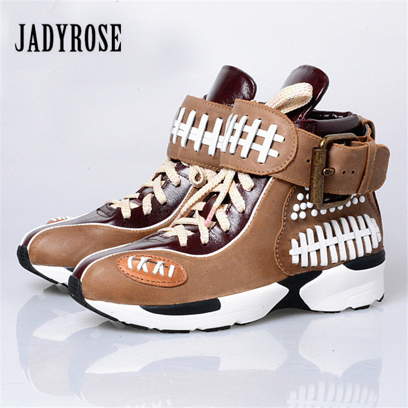 Jady Rose 2018 Fashion Ladies Shoes Women Flats Lace Up Casual Shoes Espadrilles Platform Creepers Female Patchwork Loafers