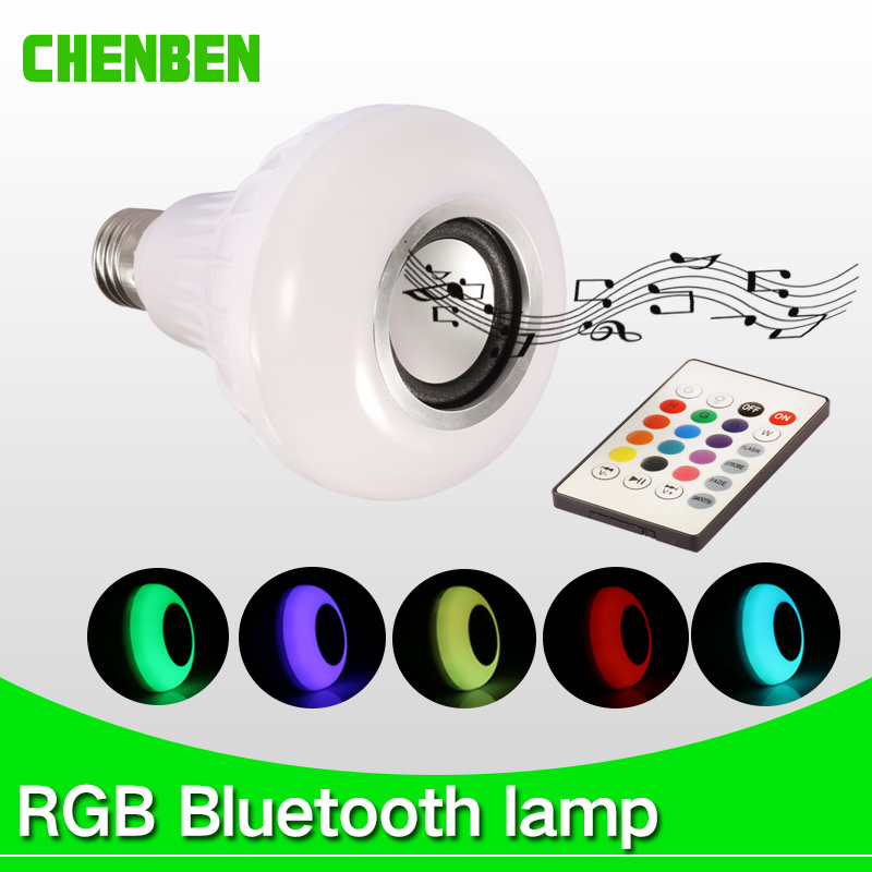 E27 LEDs RGB Wireless Bluetooth Speaker Bulb 220V 110V led Music Playing Lights Led 12W lamp with Remote Control Bulbs Light speaker bluetooth led rgb light music large bulb lamp color changing via wifi app control mp3 player wireless bluetooth speaker
