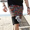 High Quality Big Size Mens Shorts Boardshorts Summer Beach Bermuda Surf Short Pants Man Quick Dry Silver 2016 Brand