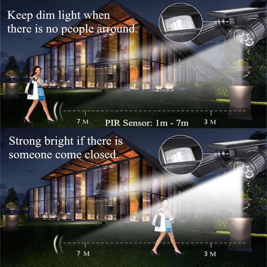 Solar Garten Pir Motion Sensor Licht 14 Led Strahler Solar Powered