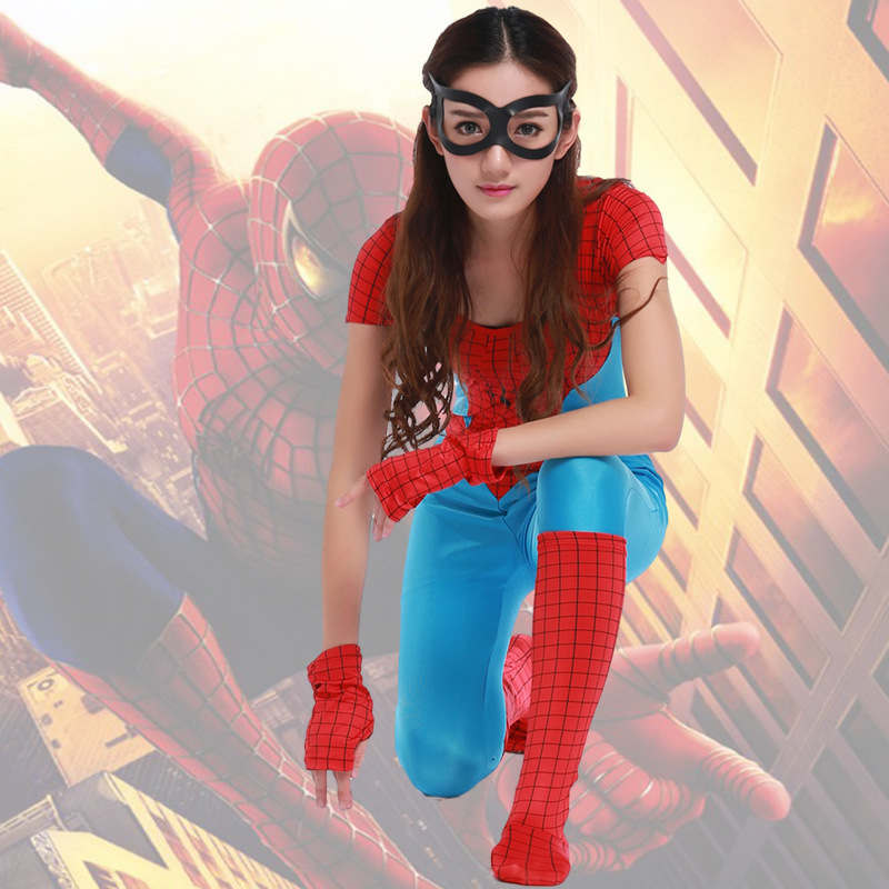 costume Superman spider woman Party Costume Halloween Costume copsplay female hero DS clothing super hreo party uniform suit