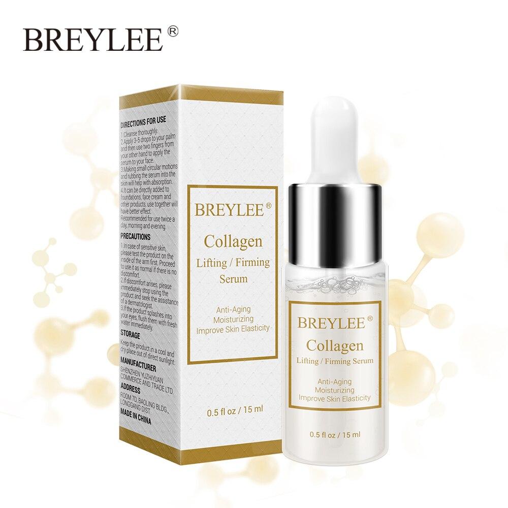 BREYLEE Collagen Lifting Firming Serum Hyaluronic Acid Moisturizing Essence Anti-Aging Remove Wrinkles Face Cream Skin Care 15ml