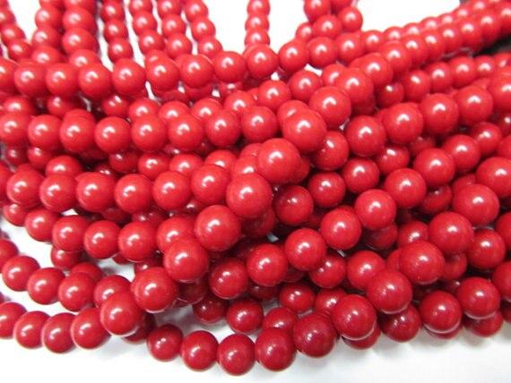 high quality 8mm 10strands calsilica turquoise semi precious round ball hot red assortment jewelry beads недорго, оригинальная цена