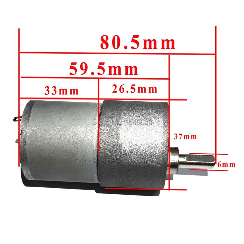 High-powered 37 MM DC 12 V motor 5 RPM high torque-getriebe-motor getriebemotoren CNC motor Drehmoment 100 KG * CM