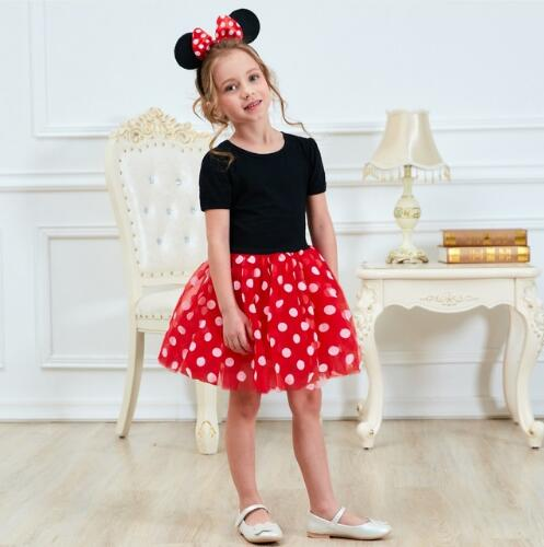 Fancy New Year Baby Girl Santa Dress For Girls Summer Minnie Mouse Holiday Kids Clothes Birthday Party Tulle Costume Mother & Kids