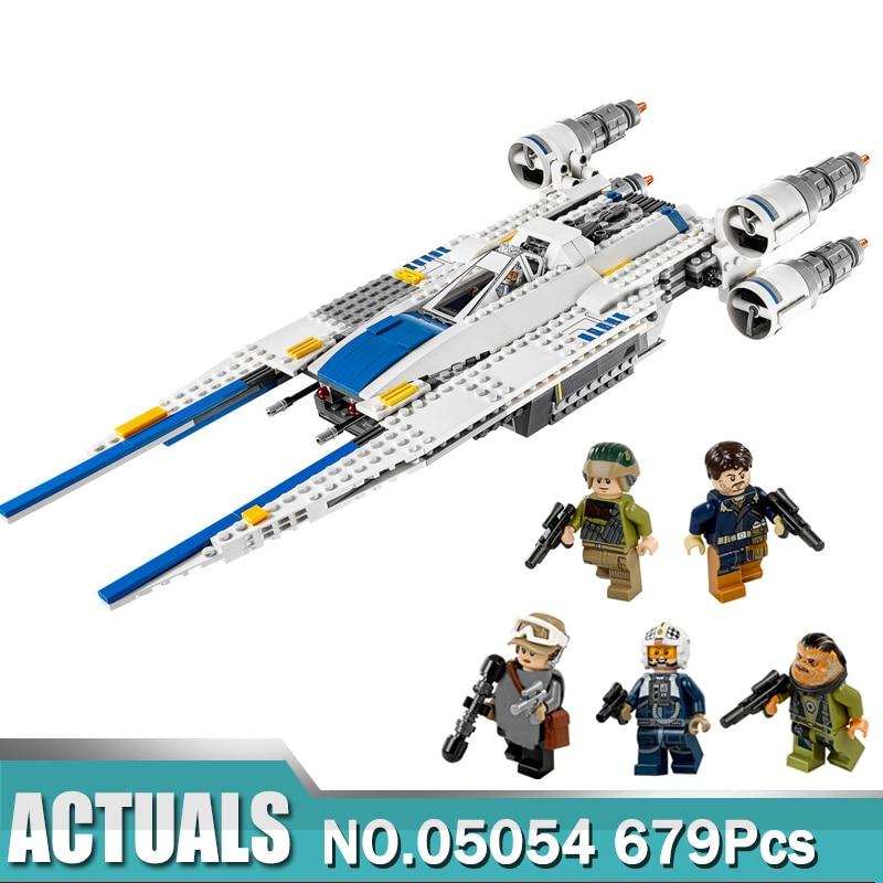 In Stock 05054 Star Wars Series The Rebel U Wing Fighter Set Compatible 75155 Building Blocks