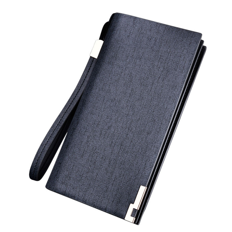 Splendid Fashion Men s Long Leather Wallet Male Bifold Business Wallet Money Card Holder Coin Bag