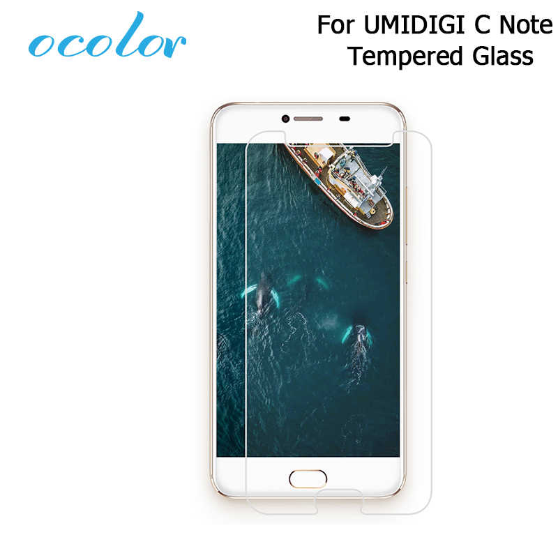 "ocolor For UMI C Note Steel Tempered Glass 5.5"" Film Protective Replacement Screen Guard For UMIDIGI C Note Mobile Accessories"