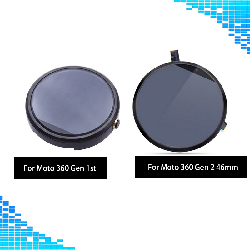 Full screen For Moto 360 LCD display+Touch screen digitizer glass Assembly Repair For Motorola Moto 360 1 1st 2nd LCD screen new touch digitizer screen lcd display assembly for motorola moto g xt1032 xt1033 digitizer sensor glass lens free shipping
