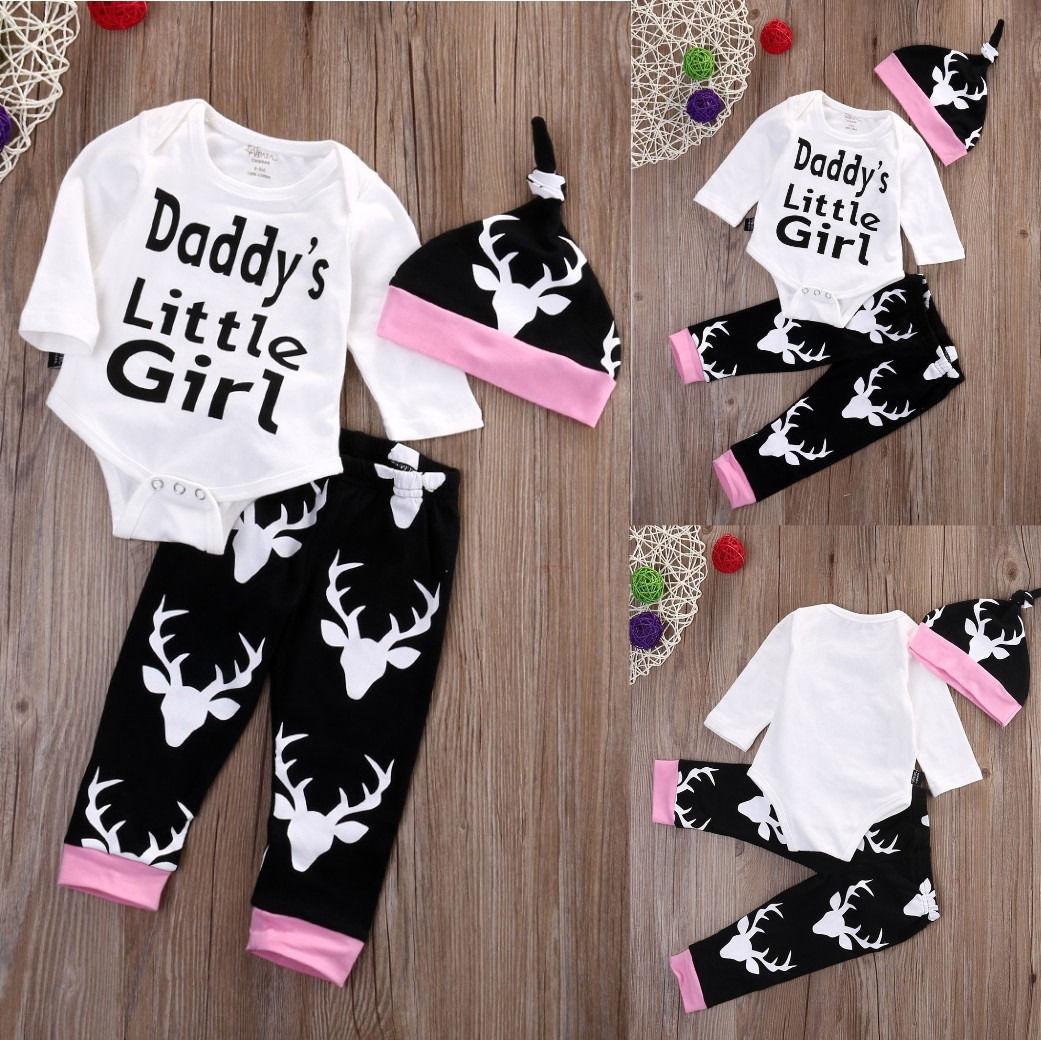 Neugeborene Baby Girl Floral Romper Tops Overall Lange Hosen Stirnband Outfits Kleidung Sets
