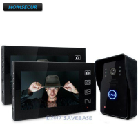 HOMSECUR 7 Wireless Video Door Phone Doorbell Intercom System With Ir Camera Rain Proof 1V2
