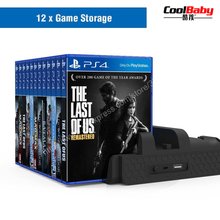 game Accessories for PS4/PS4 Slim/PS4 Pro Vertical Console Cooling Fan for PS4 Controller Charger Game Disk Storage Stand Tower