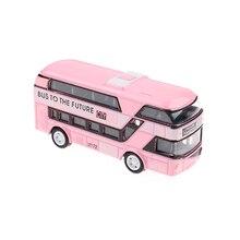 Double-Decker London Bus Mobil Model Paduan Diecast Kendaraan Hadiah Mainan untuk Anak Laki-laki Dekorasi Mainan Anak